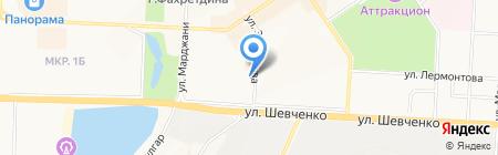 Восток на карте Альметьевска