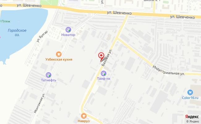 Карта расположения пункта доставки DPD Pickup в городе Альметьевск