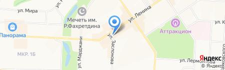 Уйгурский на карте Альметьевска