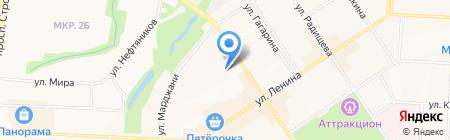 Средняя общеобразовательная школа №12 на карте Альметьевска