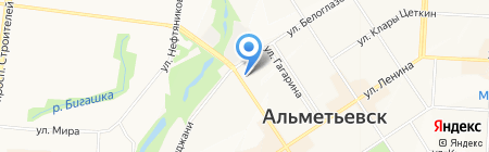 Магазин хозтоваров на ул. Мусы Джалиля на карте Альметьевска