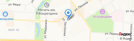Роксолана на карте Альметьевска