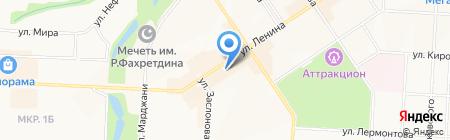 Часы на карте Альметьевска