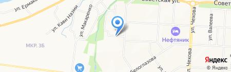 Автостоянка на ул. Жуковского на карте Альметьевска