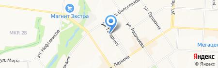 Пузо на карте Альметьевска