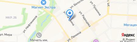 Елка на карте Альметьевска