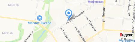Кафе быстрого питания на ул. Белоглазова на карте Альметьевска