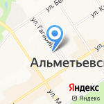 Ателье на карте Альметьевска