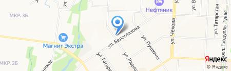 Магазин трикотажных изделий на ул. Радищева на карте Альметьевска