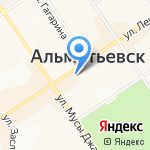 Территориальная избирательная комиссия г. Альметьевска на карте Альметьевска