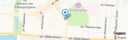 Опора на карте Альметьевска