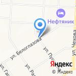 Киоск по ремонту обуви на карте Альметьевска