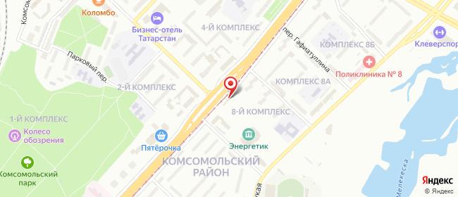Карта расположения пункта доставки Набережные Челны Мусы Джалиля в городе Набережные Челны