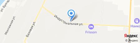 Автомастерская на Индустриальной на карте Альметьевска