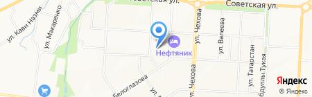 Детский сад №55 Жаворонок на карте Альметьевска