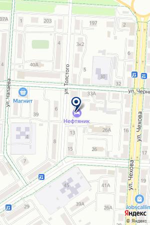 ОТЕЛЬ НЕФТЯНИК на карте Альметьевска