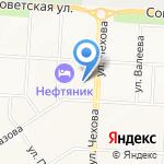 Банк Зенит на карте Альметьевска