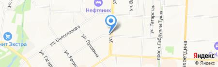 Фенстер на карте Альметьевска