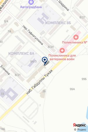 АППАРАТ МИРОВЫХ СУДЕЙ ТУКАЕВСКОГО РАЙОНА на карте Набережных Челнов