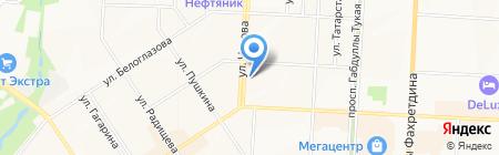Город окон на карте Альметьевска