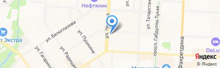 Рай на карте Альметьевска