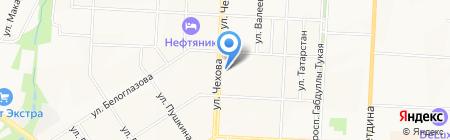 Ленинский пассаж на карте Альметьевска