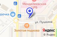 Схема проезда до компании ПРОДОВОЛЬСТВЕННЫЙ МАГАЗИН НУР в Менделеевске