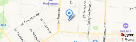 Продуктовый магазин на ул. Клары Цеткин на карте Альметьевска