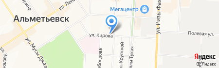 Мандарин на карте Альметьевска