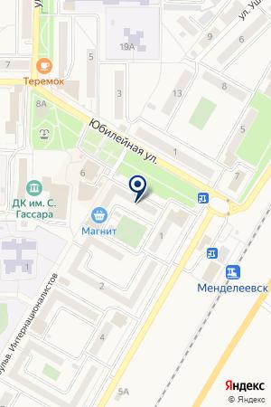 ПРОДОВОЛЬСТВЕННЫЙ МАГАЗИН 22-Й МАГАЗИН на карте Менделеевска