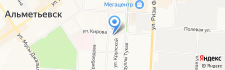 Почтовое отделение №8 на карте Альметьевска