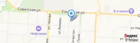 Спартак на карте Альметьевска