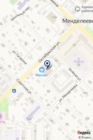 МЕНДЕЛЕЕВСКИЙ ДОПОЛНИТЕЛЬНЫЙ ОФИС АКБ СПУРТ на карте Менделеевска