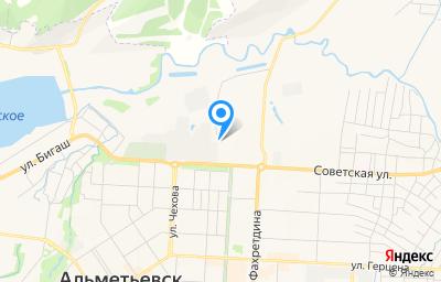 Местоположение на карте пункта техосмотра по адресу Респ Татарстан, г Альметьевск, ул Советская, д 184А