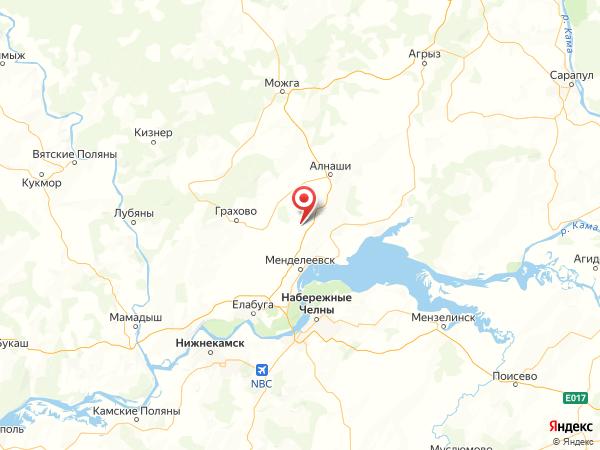 деревня Актазики на карте