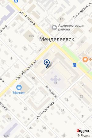 САЛОН СОТОВОЙ СВЯЗИ ОЛИМП на карте Менделеевска