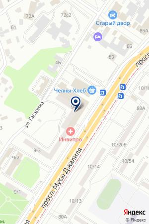 ТФ ХАФИЗОВА Л.А. на карте Набережных Челнов