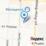 Шахтинская плитка на карте Альметьевска