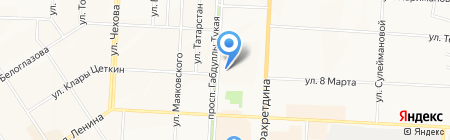 Радуга путешествий на карте Альметьевска
