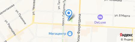 Банкомат АК БАРС БАНК на карте Альметьевска