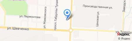 Карандаш на карте Альметьевска