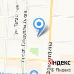 Незабудка на карте Альметьевска