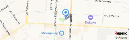 Мастерская по ремонту обуви на проспекте Тукая на карте Альметьевска