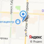 Олан на карте Альметьевска