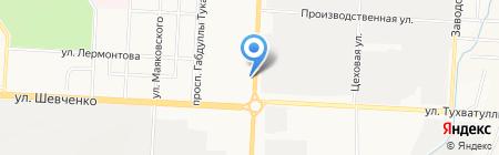 Киоск фастфудной продукции на карте Альметьевска