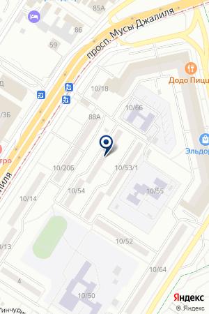 ПРОИЗВОДСТВЕННАЯ ФИРМА АРКИ на карте Набережных Челнов