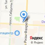 Московская ярмарка на карте Альметьевска