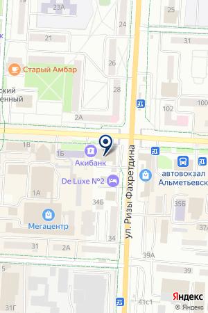 АГЕНТСТВО КОММЕРЧЕСКОЙ НЕДВИЖИМОСТИ БАЗАР на карте Альметьевска