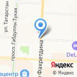 Ласка на карте Альметьевска