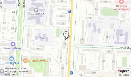 Comepay. Схема проезда в Альметьевске